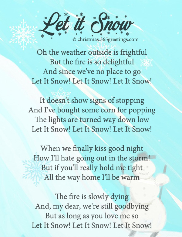 Let It Snow Lyrics