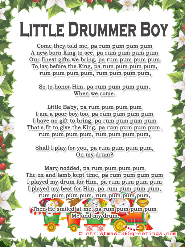little drummer boy lyrics - Best Christmas Lyrics