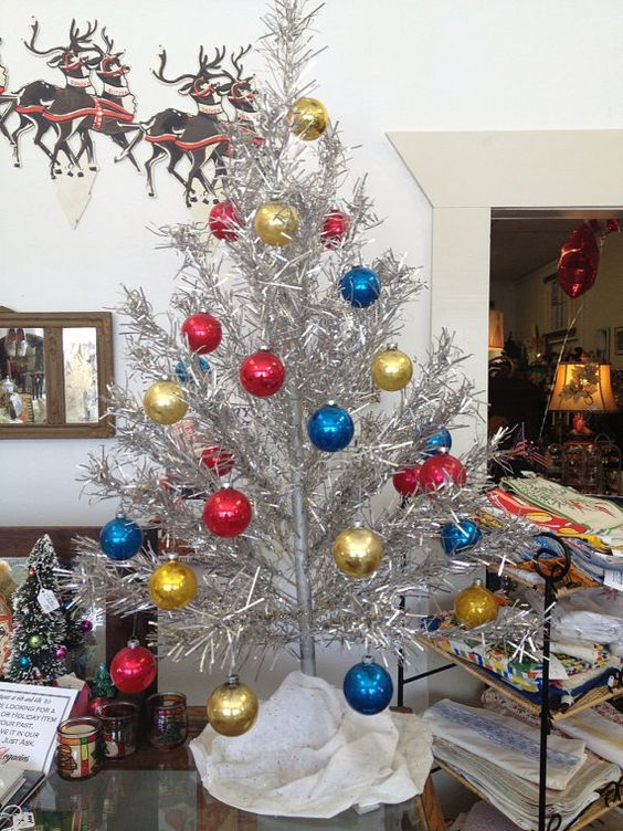 Traditional Decorated Christmas Trees