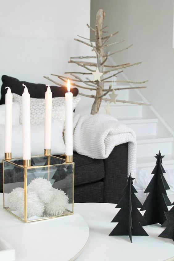 black christmas tree decoration ideas