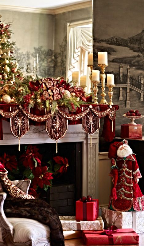An Elaborate Mantel Décor: