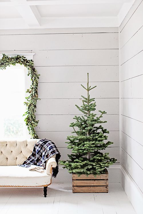 30 unique christmas tree stand decoration ideas for Wooden box tree stands