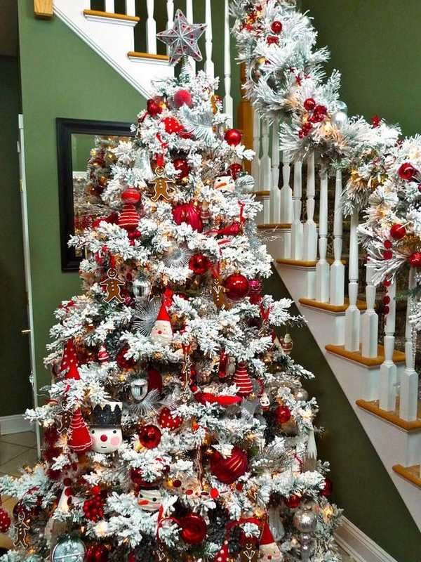 30 dreamy flocked christmas tree decoration ideas christmas celebrations - Christmas tree decorating best ideas ...