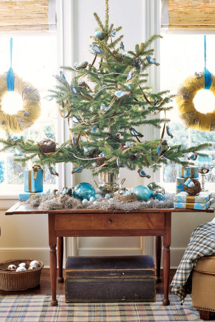 mini christmas trees decoration ideas - Bird Christmas Tree Decorations