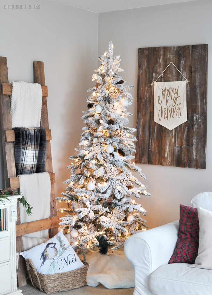cozy skinny christmas tree