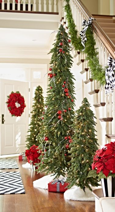 slim christmas tree decorating ideas - Skinny Christmas Tree Decorating Ideas