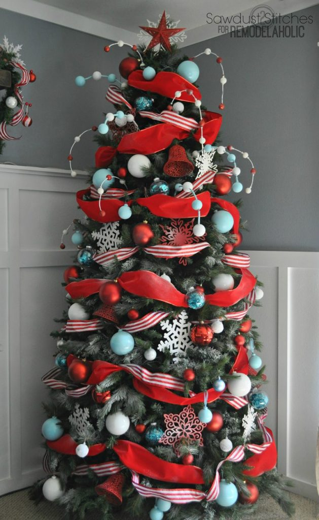 slim christmas tree decorating ideas - Slim Christmas Tree Decorating Ideas