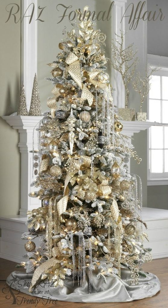 slim christmas tree decorating ideas - Christmas Decorations 2017