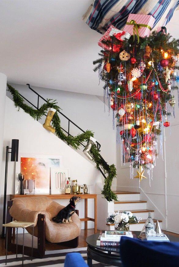 Upside Down Christmas Tree Ceiling.30 Beautiful Upside Down Christmas Tree Ideas Christmas