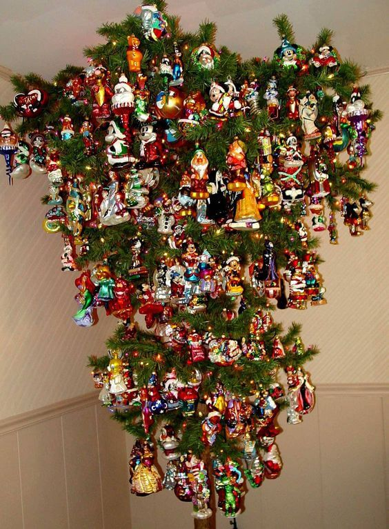 This medium sized upside down Christmas tree is loaded with vintage style glass ornaments. Just a look at this Christmas tree will transport your guests to ...