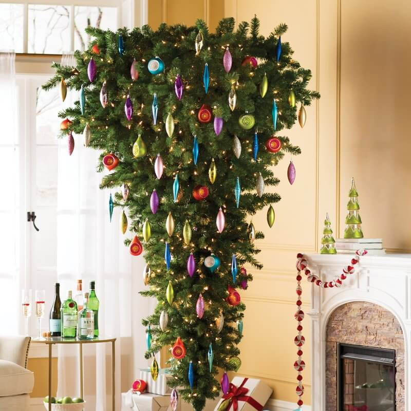 Upside Down Christmas Tree Decorating Ideas.30 Beautiful Upside Down Christmas Tree Ideas Christmas