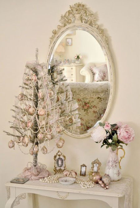 How Beautiful Is This Soft Pink Victorian Christmas Tree? Very Dreamy And  Beautiful, Right? It Isnu0027t A Christmas Tree, Per Se, But Is Basically A  Stand, ...