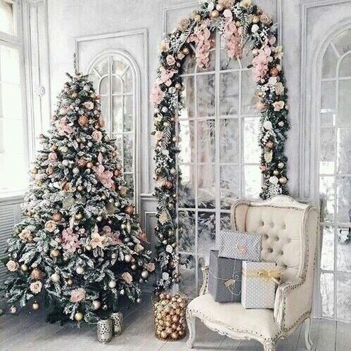 victorian christmas tree decoration ideas - Pink Christmas Tree Decorations