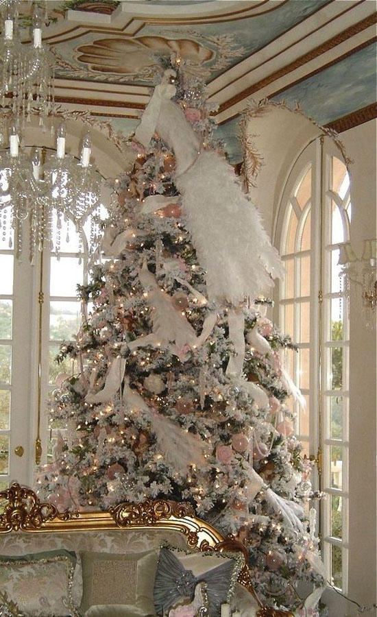 this is hands down one of the most elegant and immaculate victorian christmas tree decoration ideas weve come across in a first were seeing a christmas - How To Decorate A Big Christmas Tree
