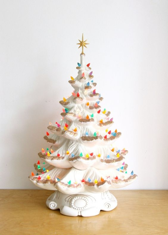 30 Most Beautiful Ceramic Christmas Trees - Christmas Celebrations