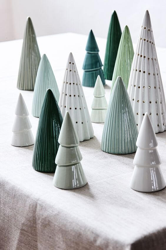 Contemporary Artificial Christmas Trees