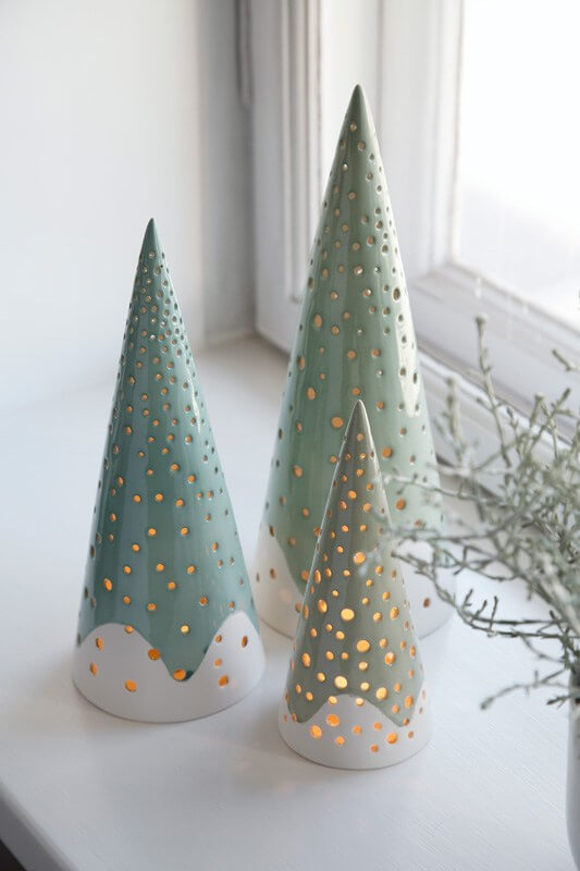 contemporary ceramic christmas tree - Ceramic Christmas Decorations