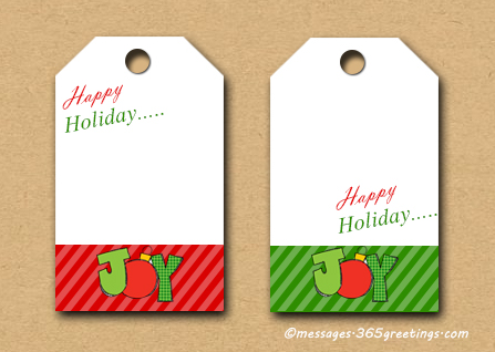 photo regarding Printable Holiday Gift Tags named 25 Least complicated Xmas reward tags - Xmas Bash - All