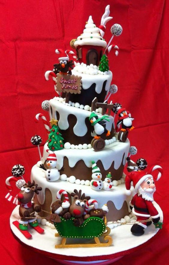 25 Best Cake Designs For Christmas 2018 Christmas Celebration