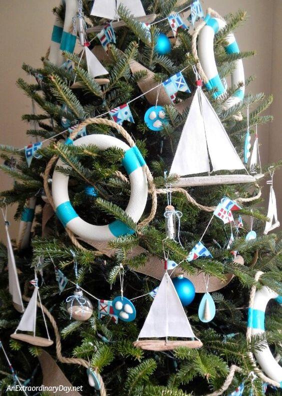 blue Christmas tree decoration ideas