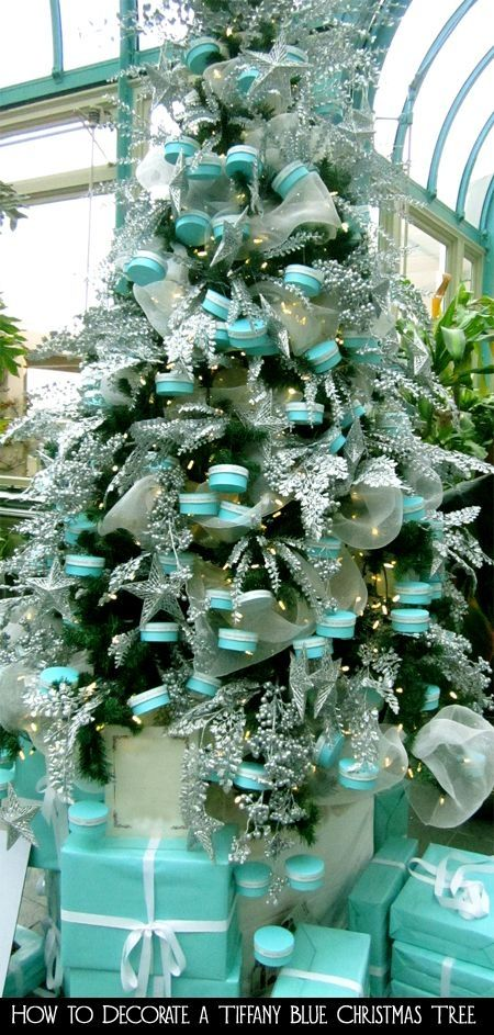 have you even seen such a beautiful looking outdoor christmas tree before the decoration especially looks really unique with tulle garland and little - Turquoise Christmas Tree Decorations