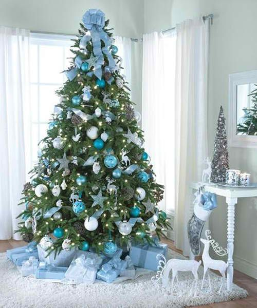 blue christmas tree decoration ideas - Blue Christmas Tree Decoration Ideas