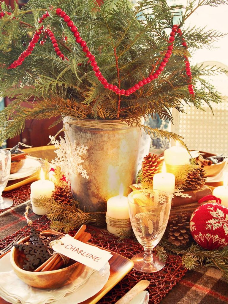 cheap Christmas centerpiece