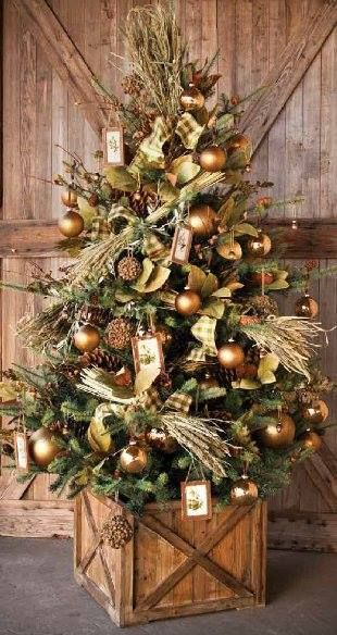this idea again is for those people who do not want to incorporate swirls of ribbon in their christmas tree just take bits of ribbon and wrap it around