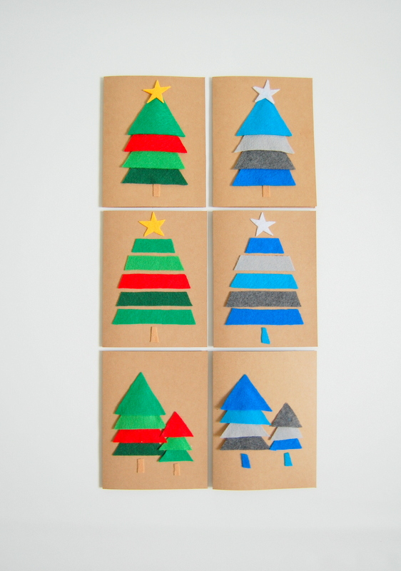 Diy christmas card ideas handmade christmas cards christmas diy felt christmas cards solutioingenieria Images