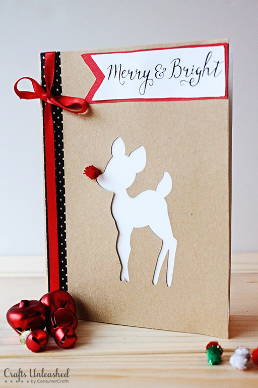 Making Christmas Cards Ideas Part - 34: This Merry And Bright Card Is So Beautiful That Youu0027d Display It In Your  Home As Decoration All Year Round. Itu0027s Pretty Easy To Make Too As You Just  Need To ...