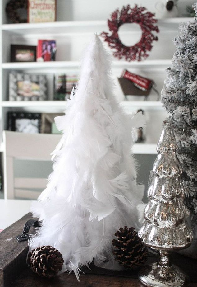 diy feather christmas tree - Feather Christmas Tree Decorations