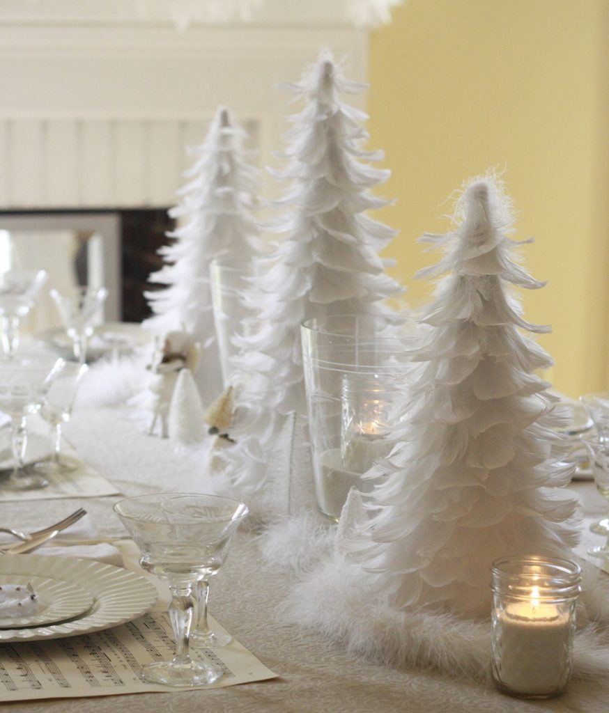 30 Magical Feather Christmas Tree Decoration Ideas ...