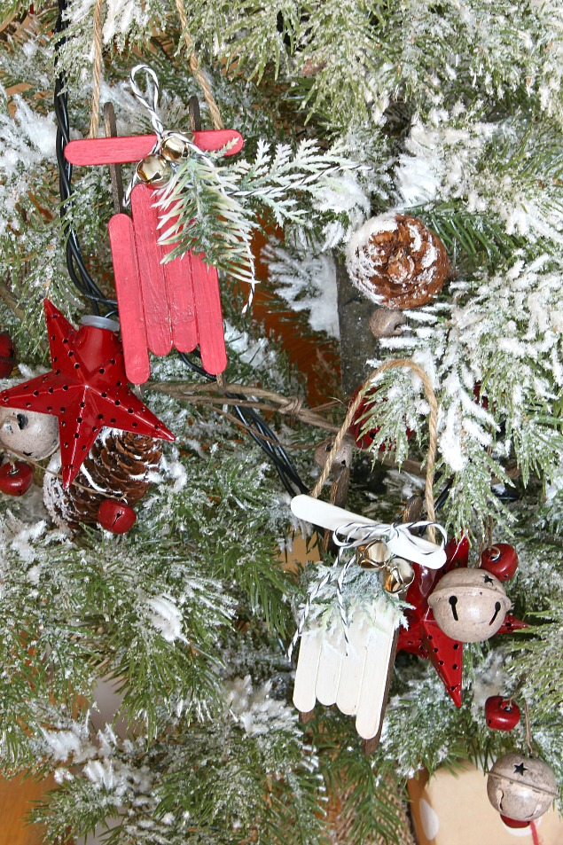 sled ornaments - Easy Homemade Christmas Decorations Ideas