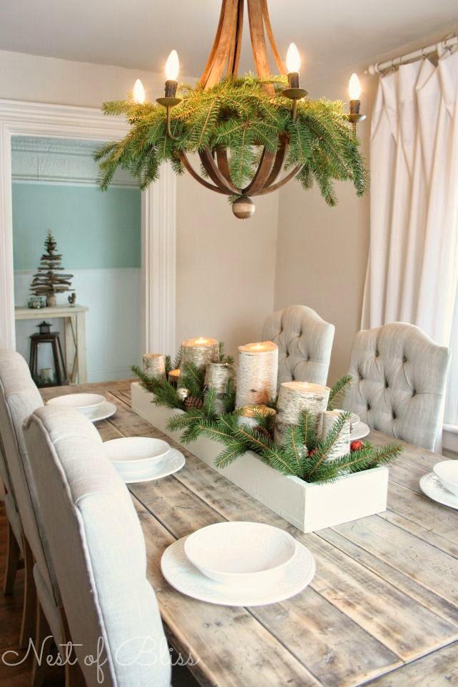 homemade christmas table decoration ideas - Table Decoration For Christmas Homemade