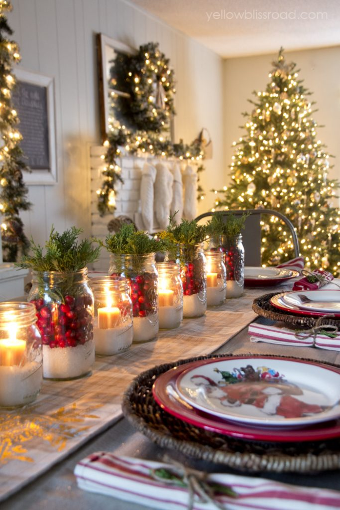 Homemade Christmas Table Decoration Ideas