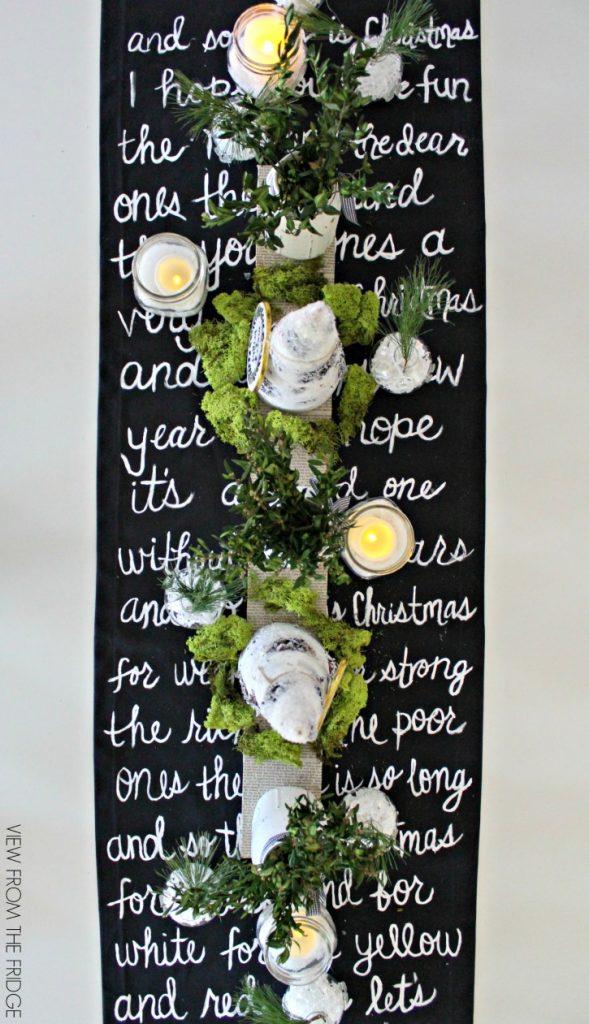 30 homemade christmas table decoration ideas christmas for 10 x table song