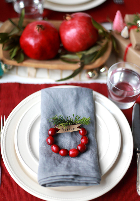 homemade christmas table decoration ideas - Homemade Christmas Table Decorations