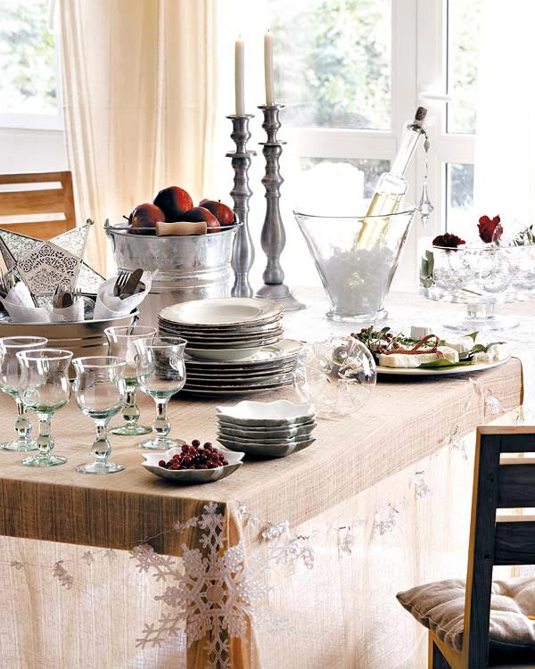 A Touch Of Rustic & Modern Christmas Table Setting Ideas - Christmas Celebration - All ...