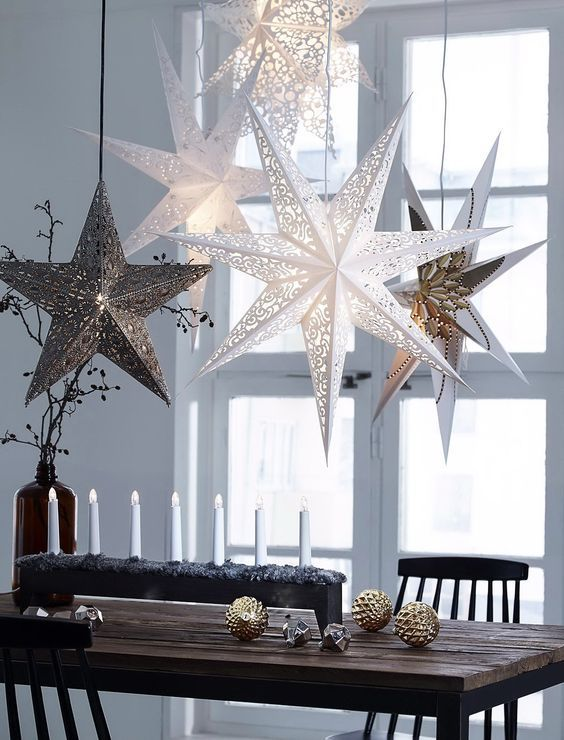 Scandinavian decorations have always been acclaimed for being contemporary and modern. In the picture above just a couple of ornaments and candles are ... & Modern Christmas Table Setting Ideas - Christmas Celebration - All ...