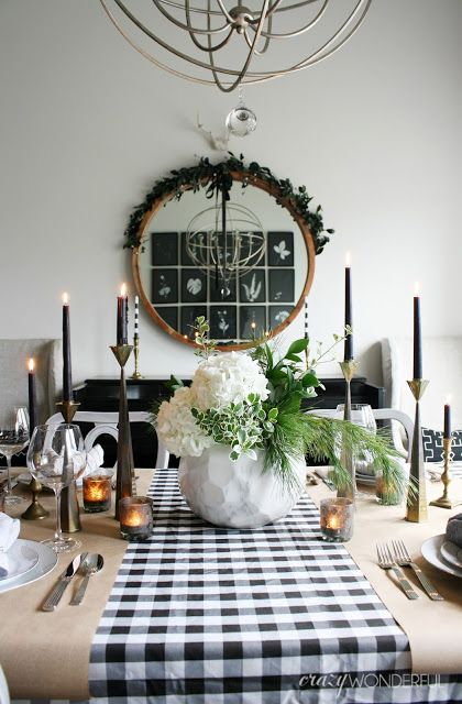 Modern Christmas Table Setting Ideas