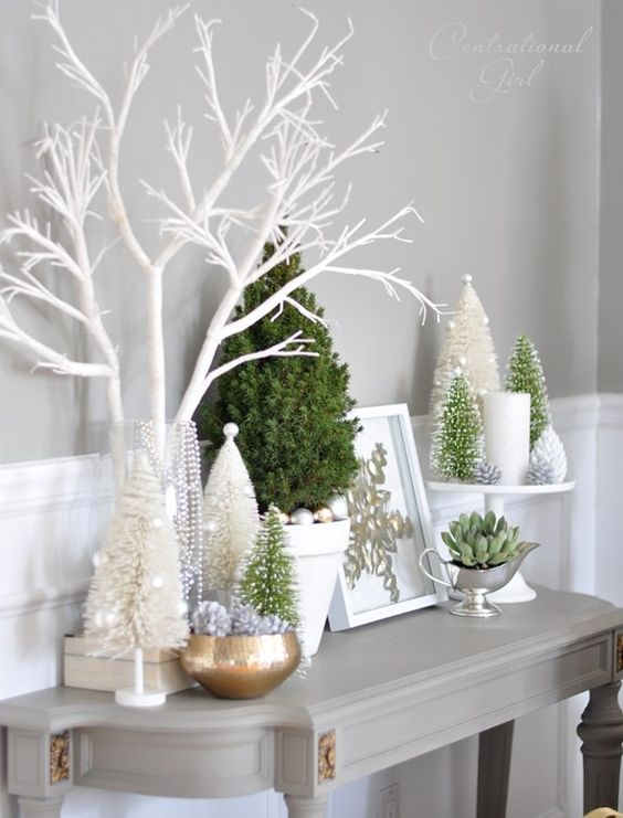 Potted Christmas Tree Decoration Ideas