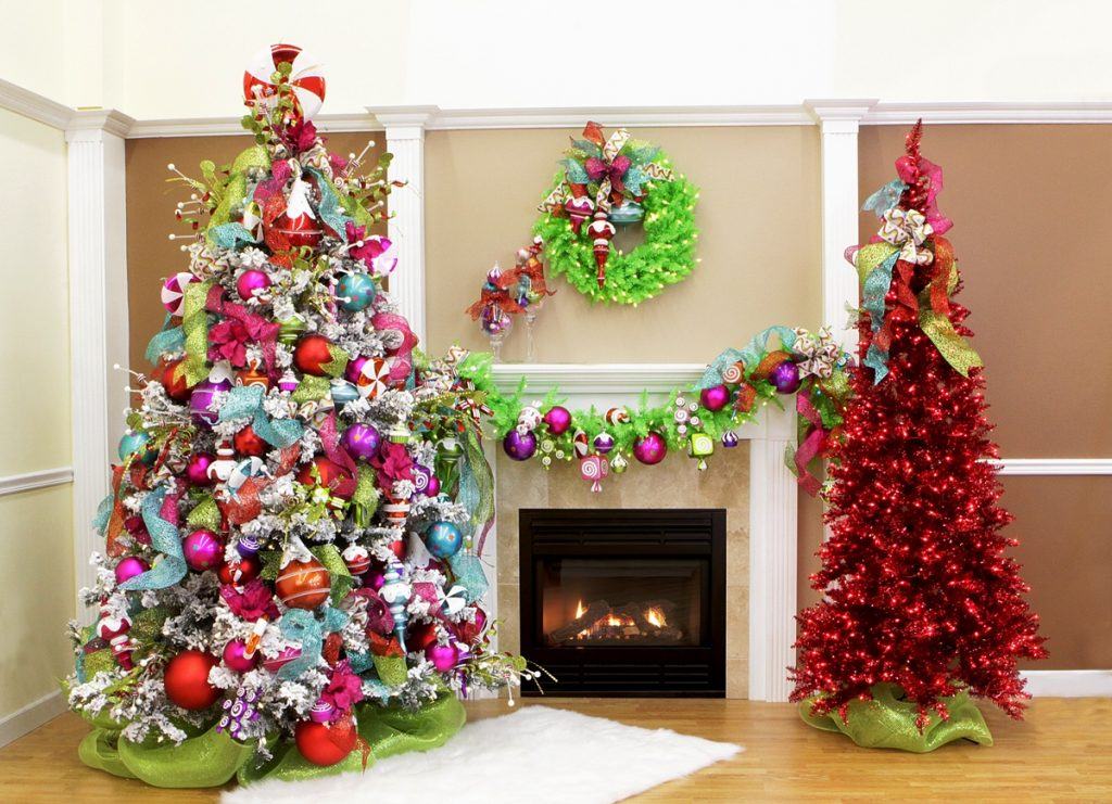 You Can Even Pair A Slim Red Tree With Standard Multicolored Christmas As Seen In The Picture While Is Looking