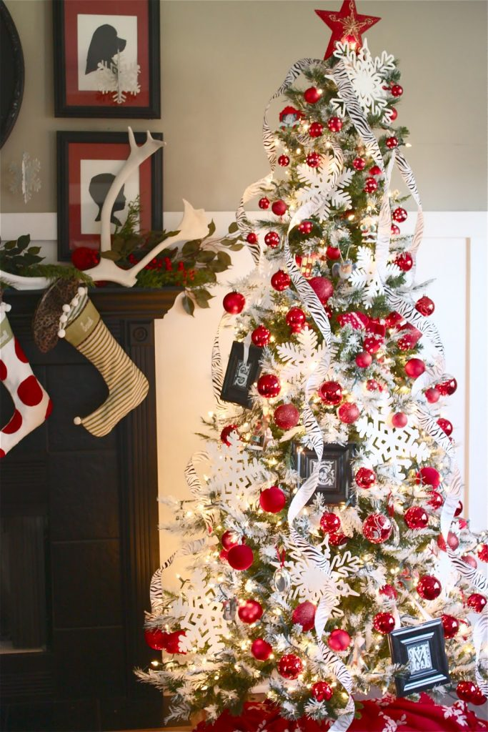 Red And White Christmas Tree Decorations Ideas.Red Christmas Tree Decorations Ideas Christmas Celebration