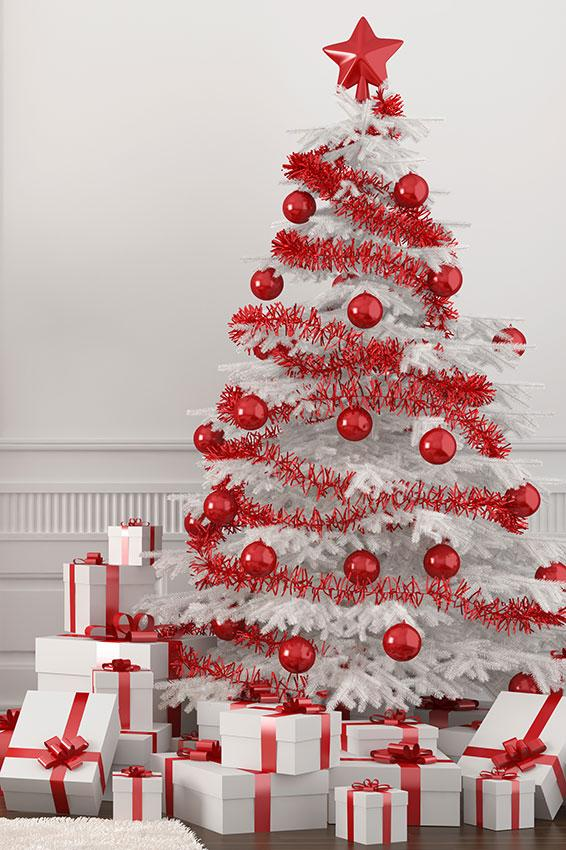 White Christmas Tree With Ornaments:
