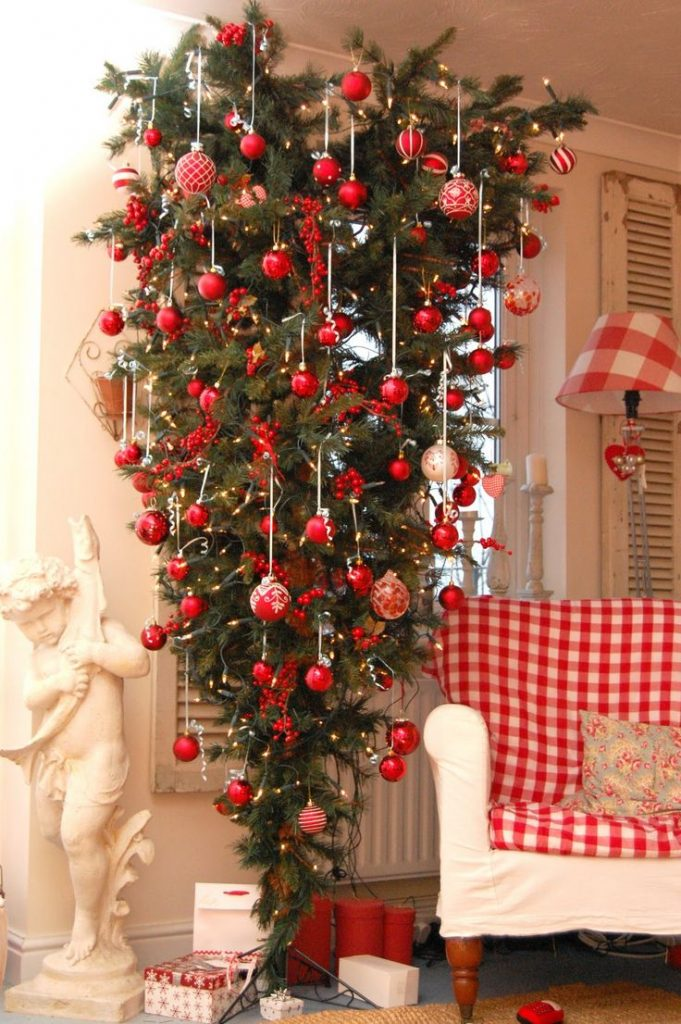 Beautiful Red Christmas Tree Decoration Ideas Celebrations