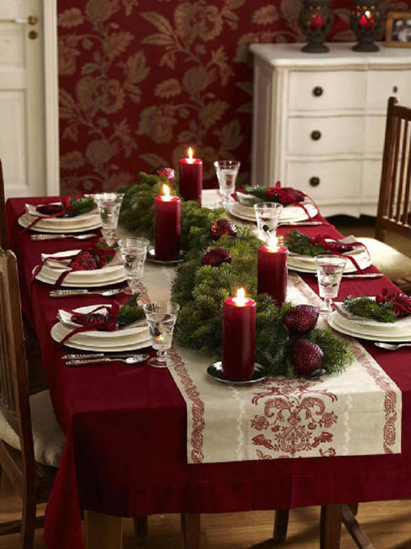 Fine Top Christmas Table Settings Christmas Celebration All Download Free Architecture Designs Grimeyleaguecom