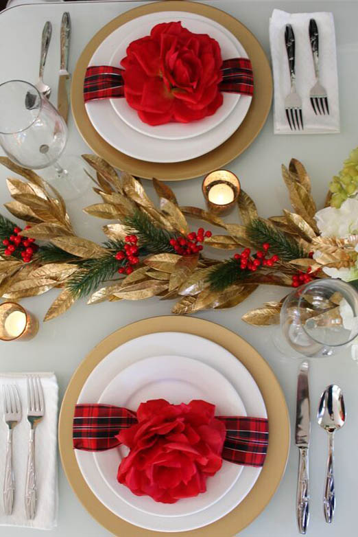 Nothing Says Christmas Like Tartan. Use This Design Pattern To Great Effect  On Your Christmas Table Setting. By Using Tartan Ribbon Coupled With Large  ...