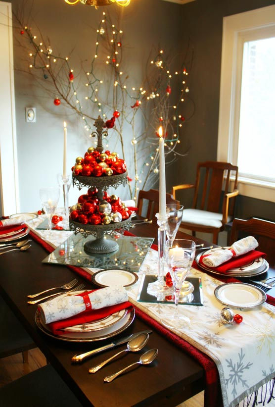 Beautiful Fill Your Favorite Stand With Red And Gold Baubles. Decorate A Large Tree  Branch With Fairy Lights And Youu0027ve Got A Magical Setting Fit ...