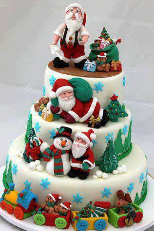 20 best santa claus cake designs for christmas christmas
