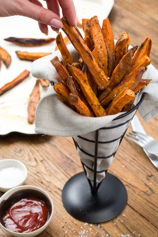 if you want to create a hearty easy and delicious side recipe you can go for these sweet potato fries apart from being delicious and crispy